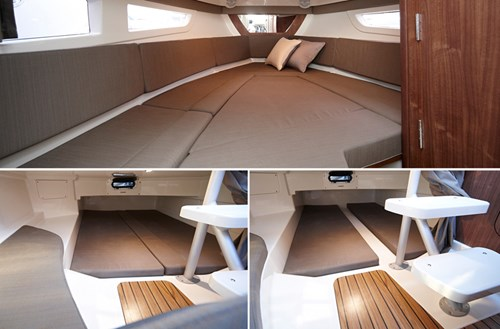 4 berths with cabin cushions