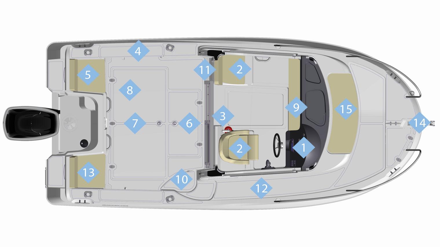 555 pilothouse quicksilver boats
