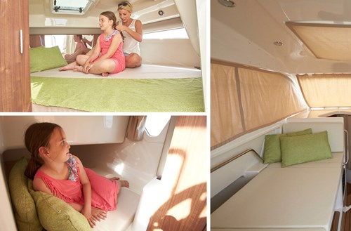3 berths with cabin cushions